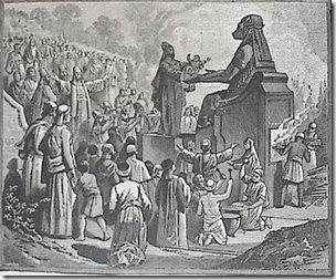 עבודת המולך - molech (1884) by Charles Foster