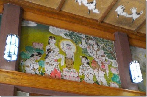 ראו את האיקונוגרפיה במקדש היפני בבודה-גאיה. שום בעיה עם נשים מיניות בתמונה המציגה את הולדתו של הבודהה
