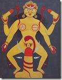 דיוקן מהמאה ה-18 המתאר את האלה, שהיא עולם התופעות, כרוויה באנרגיה מינית. לחצו להגדלה