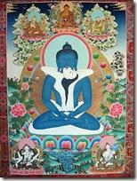 איקונוגרפיה בודהיסטית המתארת את הבודהה בתנוחת מדיטצייה בישיבה, תוך כדי זיווג, הכל כדרך לשחרור. לחצו להגדלה