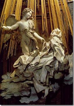 תרזה מאבילה ברגע של אקסטזה מיסטית. פסל של Bernini, המאה ה-17