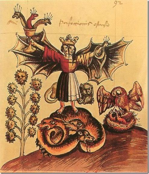 ישות שמימית אנדרוגינית. על פי ה- Rosarium Philosophorum, המאה ה-16