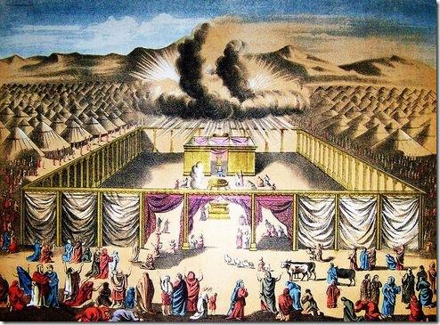המשכן במדבר, ומעליו כבוד ה'