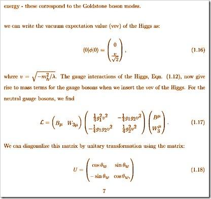 משוואות שקשורות לחלקיק גולדסטון-בוסון, ובעקיפין, כמובן, מראות כיצד כינים נוצרות מתוך זיעה