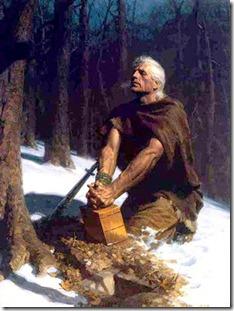 מורוני קובר את לוחות הזהב, ועליהם ההיסטוריה של השבט שלו ותורתו השלמה של ישו