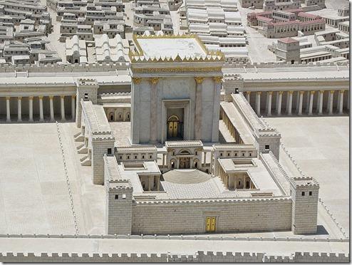 דגם בית המקדש השני. התמונה מויקיפדיה