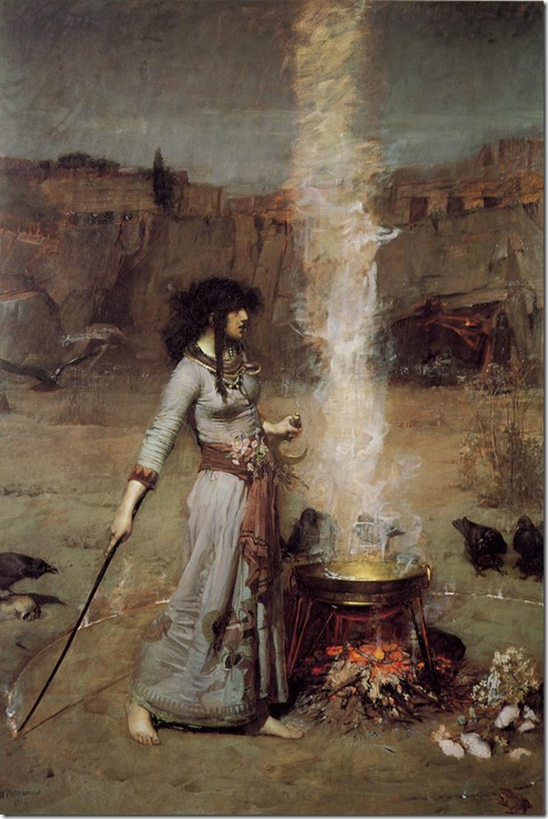 John William Waterhouse, Magic Circle, 1886