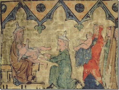 מילת יצחק, כתב יד גרמני של התורה, סביב 1300 לספירה,