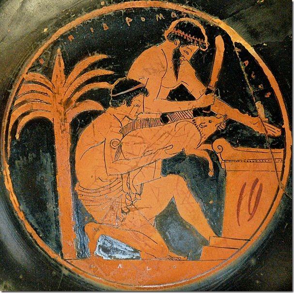 """קורבן חזיר, יוון, 500 לפנה""""ס"""