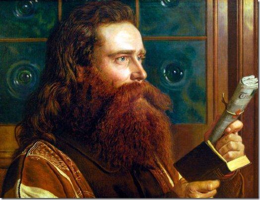 הנרי וונטוורת' מונק, דיוקן שצייר חברו, וויליאם הולמן האנ6. מונק מחזיק ביד אחת את ספר חזון יוחנן, וביד שנייה גיליון של ה'טיימס' הלונדוני, כדי להדגיש שהנבואות שלו מתגשמות בימים אלה.
