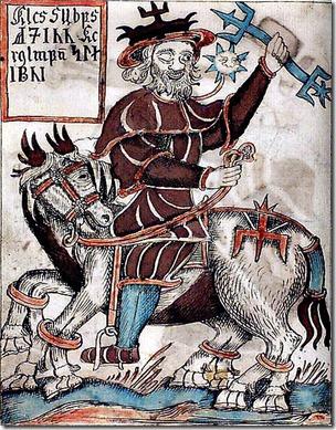 אודין, מקבילו הנורדי (ולפעמים גם הגרמאני) של ווטן, מכתב יד מהמאה ה-18