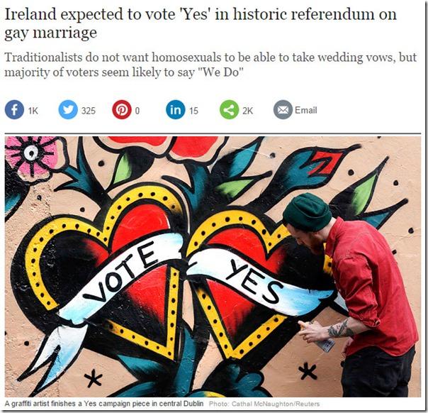 משאל העם באירלנד - מתוך עיתון הטלגרף