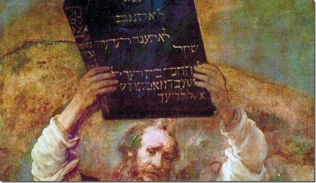 משה שובר את הלוחות, רמברנט, 1659