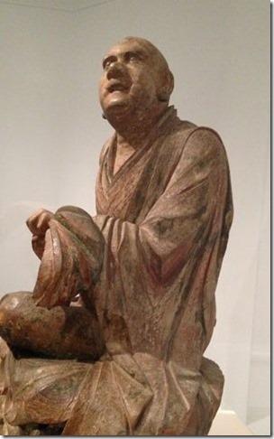 נזיר בודהיסטי ברגע של סטורי - סין, המאה ה-13-14 - לחצו למקור התמונה