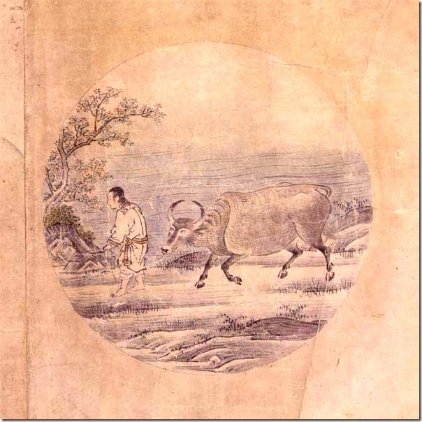 לחפש את השור, תמונה 5 - הציורים מיוחסים ל-Tenshō Shūbun (天章周文) (1414-1463)