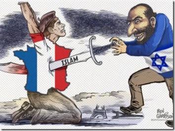 דימוי אופייני לאנטישמיות של העליונות הלבנה, הפעם מצרפת